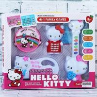 Mainan Anak Edukasi Music 4IN1 Family Games Hello Kitty
