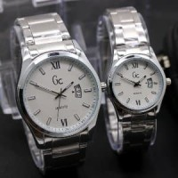 Jual jam tangan couple/pasangan gc rantai premium simple ele Murah