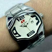 Unik jam tangan pria/cowok swiss army rantai premium simple Diskon