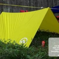 Flysheet Ultralight 3x3 meter. bisa bivak, tutup hammock, flysheet.