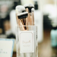 Jacquelle Beauty Brush Collection - Grown Ups with acrylic holder