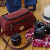 Tas Kamera Sling Bag Pouch Camera Mirrorless - Firefly Ingvar Maroon