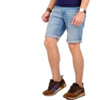 celana pendek jeans pria / short skinny jeans pria white stich