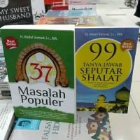 Paket 2 Buku 37 Masalah Populer dan 99 Tanya Jawab Seputar Shalat