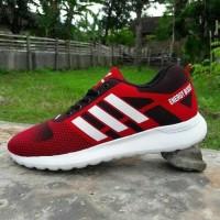Sepatu Olahraga Pria Adidas Sport Merah Ukuran Besar Big Size 45 46 47