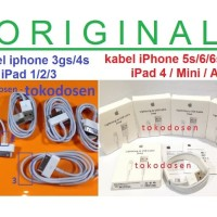 ORI Apple kabel charger data Ipad 1 2 3 Itouch 4 Ipod classic Usb 4s