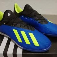 Sepatu Futsal - Adidas X Tango 18.3 Energy Mode Blue Volt - TURF