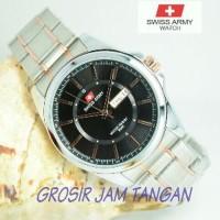 Promo Jam tangan pria swiss army elegan rantai stainless *299 Diskon