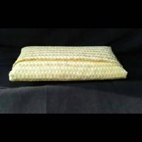 dompet clutch anyaman bambu polos warna Limited