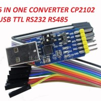 CONVERTER USB SERIAL TTL RS232 RS485 6 IN ONE CP2102 WITH PIN DTR