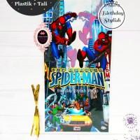 Plastik Snack/ Bingkisan Ulang Tahun Anak Spiderman Sedang Isi 10 Pcs