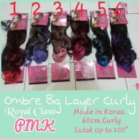Hairclip ombre curly ungu
