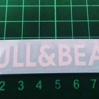 Sticker / Stiker Visor Helm Pull & Bear