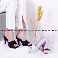 Super Promo! NLT High Heels Wanita Tinggi SLOP Depan Murah!