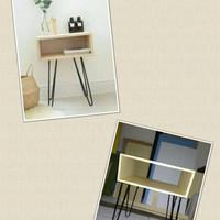 meja rias minimalis/meja hairpain/side table/nakas