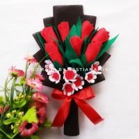 Buket Bunga Tulip Flanel Kado Wisuda Valentine Cantik