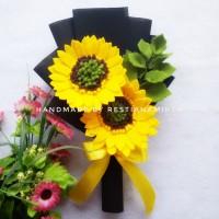 Buket Bunga Matahari Flanel Kado Wisuda Murah