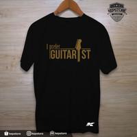Kaos Obral Baju Combed 30S Distro I Prefer Guitarist Gitar Promo Murah