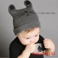 Cat Hat Topi Kupluk Lucu Anak Bayi Bahan Rajut