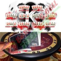 Kartu Remi Poker Plastik - Black - MALANG