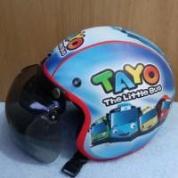 Helm anak bogo karakter TAYO BIRU