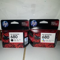 Tinta HP 680 Black dan HP 680 Color Original 1 set