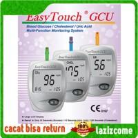 ORIGINAL Alat Cek Easy Touch GCU 3 in 1 Gula Darah, Kolesterol, Asam