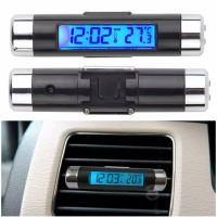 Jam Mobil & Pengukur Digital Suhu Ac / Jam Mobil Digital 2 In 1