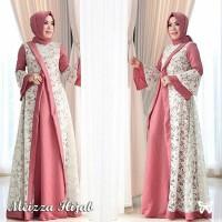 Meizza Hijab Dress SIS bahan dalam Jersey premium mix brukat