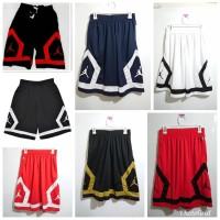 Celana Basket Nike Jordan Flight Diamond Hitam Merah - PILIH WARNA, M