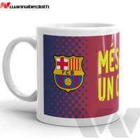 Mug Gelas Mug Keramik Souvenir Bola Barcelona Berkualitas