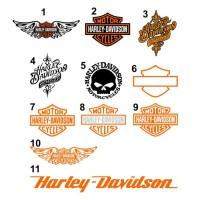 Cutting Sticker / Stiker Kaca Body Mobil Logo Tulisan Harley Davidson