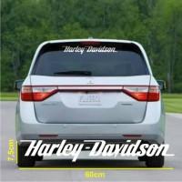 Cutting Sticker - Stiker Kaca Belakang Mobil Tulisan Harley Davidson