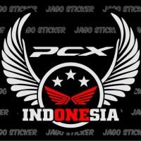 Sticker Cutting / Stiker Motor Logo Honda PCX Indonesia Wings