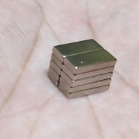 MAGNET NEODYMIUM KOTAK BATANG BAR SILVER SUPER STRONG 10x4x1,5mm