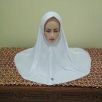 Jilbab Hijab Bergo Instan Putih Kaos Tebal Seragam SD SMP SMA Pad Pet