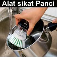 Alat sikat panci inovatif dispenser sabun cair brush soap dapur piring