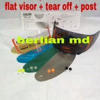 Flat visor / kaca helm flat pnp kyt rc7, kyt r10, kyt k2 rider, mds