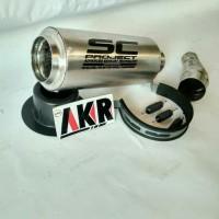 Promo spesial knalpot sc project slip-on ninja 250,rr mono,r 25 .pnp