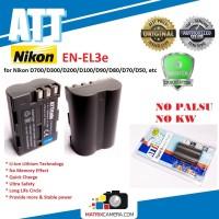 ATT Battery Nikon EN-EL3e Baterai Batere for D700/D300/D200/D100/D90