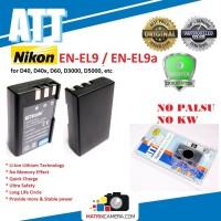 ATT Battery Nikon EN-EL9a/-EL9 Baterai Batere for D40/D60/D3000/D5000