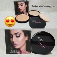 Bedak kiss beauty 2in1