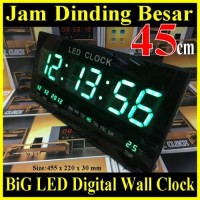 XY-4622 JAM DINDING DIGITAL LED CLOCK WALL 45 CM LAYAR LEBAR BESAR