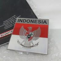 Sticker Metal Burung Garuda emblem Vespa Mobil Car Motor Badge