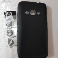 SoftCase slim Samsung J1 2016 silikon black matte slim case anti minya