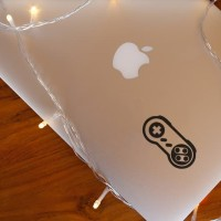 Decal Sticker Macbook Stiker SNES Controller Video Game Laptop