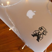 Decal Sticker Macbook Stiker Super Mario Bross 8 bit Laptop