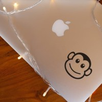 Decal Sticker Macbook Stiker Monkey Face Laptop