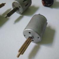 Dinamo Mini Motor Mainan DC 9v plus gear metal panjang magnet kuat