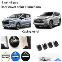 Car door lock & arm cover mobil mitsubishi xpander pajero sport 1 set - Hitam